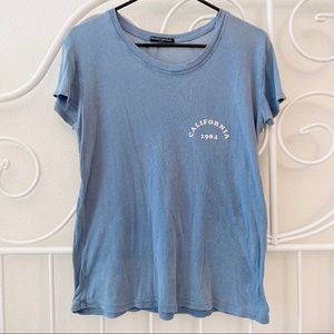 Brandy Melville Vintage Blue Graphic Tee